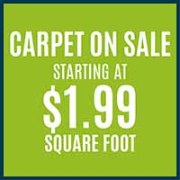 Carpet on Sale Starting at $1.99 sq.ft. at Hester's Abbey Floorcoverings in St. Augustine, FL