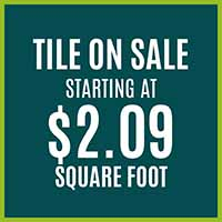Tile Flooring on Sale starting at $2.09 sq.ft. at Hester's Abbey Floorcoverings in St. Augustine, FL