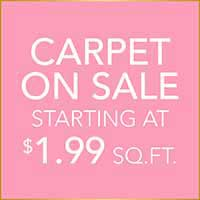 Carpet on sale starting at $1.99 sq.ft. at Hester's Abbey Floorcoverings in St. Augustine